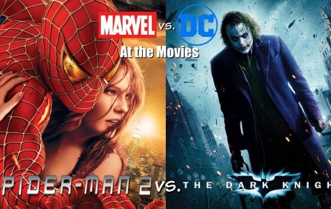 Spider-Man 2 vs. The Dark Knight: Marvel vs. DC at the movies.