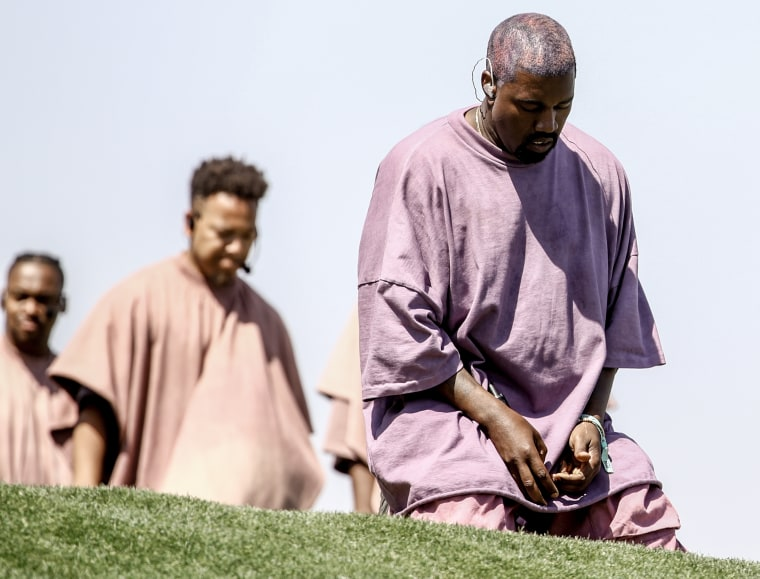 Kanye+West+performing+with+his+Sunday+Service+choir.+Photo+from+Fader.